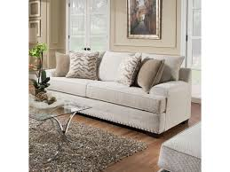 Simmons Upholstery Furniture Simmons Upholstery 6547br Contemporary Sofa With Nailhead Trim