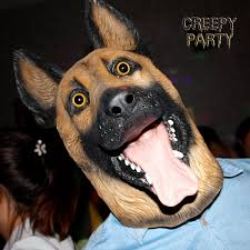 halloween dog mask amazon com creepyparty novelty halloween party latex animal dog