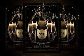 halloween flyer background nye new year flyer champagne night flyer templates creative