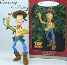 1998 hallmark woody the sheriff ornament story disney pixar