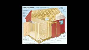 Floor Plans For Storage Sheds by 12x16 Storage Shed Plans Youtube