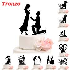 black cake toppers tronzo wedding cake topper groom mr mrs acrylic black cake