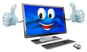 image ordinateur de bureau mascotte d ordinateur de bureau illustration de vecteur