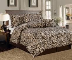 Faux Fur Duvet Cover Queen Leopard Print Comforter Set Queen Foter