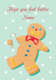 feel better cards gingerbread get well card scribbler cards