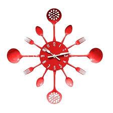 couvert de cuisine horloge couvert horloge acier cuisine couverts foirchette cuillre