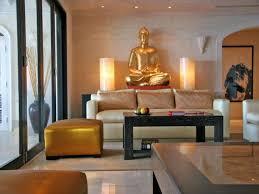 Zen Interiors Elegant Zen Living Room With Gold Buddha Statue Decor Stupic Com