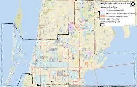 Cities In Florida Map by Clearwater Neighborhood Map City Of Clearwater Fl