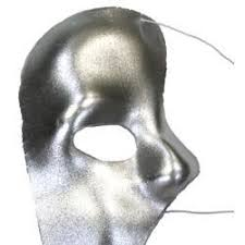 silver masks plastic masks silver phantom of the opera
