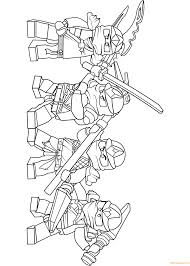 team of lego ninjago zx coloring page free coloring pages online