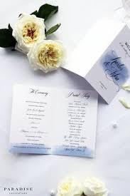 printed programs wedding program folded navy printable wedding programs or