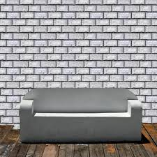 Stick And Peel Wallpaper by Removable Wallpaper Whitewashed Brick Peel U0026 Stick Self