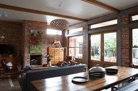 industrial style house design of a country house in a mixed style with elements of retro