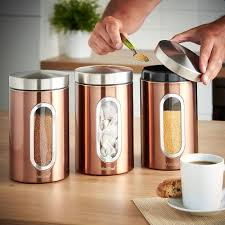 copper kitchen canisters u0026 jars ebay
