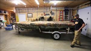 Pvc Duck Boat Blind My 16 U0027 Low Profile Boat Blind Youtube