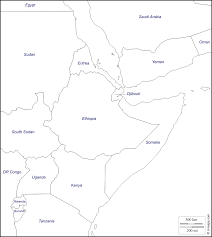Burundi Map Horn Of Africa Free Map Free Blank Map Free Outline Map Free
