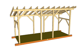 Plans To Build A Firewood Shed by How To Build A Shed 6x16 Timber Frame Firewood Shed Plans