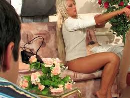 Fucking In The Sofa Blonde Beauty Fucking In Black Pantyhose On The Sofa