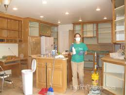 kitchen cabinets too high the thrifty home kitchen remodel painting cabinets