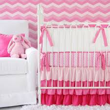 Hot Pink And Black Crib Bedding by Baby Nursery Great Idea For Girl Baby Nursery Room Decoration