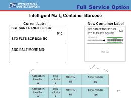 Postalone Help Desk 1 Intelligent Mail Barcode Implementation Federal Register