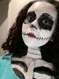 Skeleton Face Paint For Halloween by Skeleton Face Paint By Puppyowner39 On Deviantart