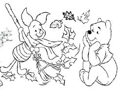coloring pages winnie pooh fall coloring pages winnie