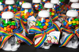 Gumball Party Favors Rainbow Birthday Party
