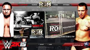 wwe games wwe 2k15 mods roh 2k16 gameplay notion custom wwe gaming