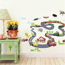 chambre b b cars cars stickers muraux 3d amovible mur salle de décoration murale