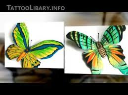 color butterfly tattoo designs design gallery youtube