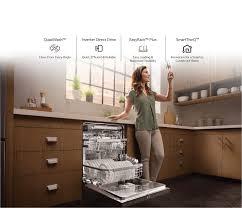 lg ldf5545st front control dishwasher w quadwash u0026 easyrack lg usa