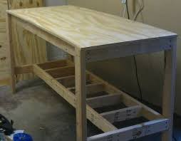 Woodworking Bench Top Material by 25 Best Garage Workbench Plans Ideas On Pinterest Wood Work