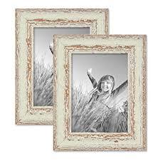 cornici per foto set da 2 cornici per foto da 13x18 cm bianco shabby chic vintage