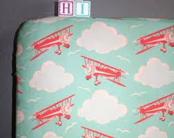 airplane nursery bedding etsy