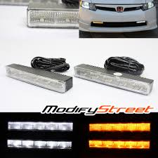 universal dual color white switchback led daytime running
