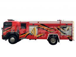 isuzu fv 6000 liters pto with crew cabin fire truck firewolf motors
