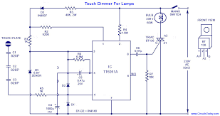 a simple touch dimmer circuit diagram using tt6061 ic which is a