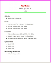 Resume Template Basic by Basic Resume Template Template Business