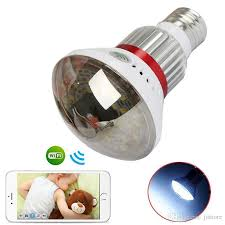wifi camera light bulb socket mini network surveillance dvr 720p wifi hidden mirror bulb camera