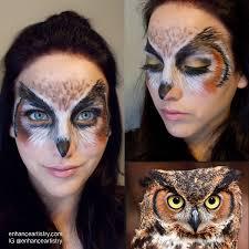 Pinterest Halloween Makeup Ideas by Owl Halloween Makeup Makeup Pinterest Halloween Makeup