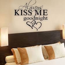 baise dans la chambre citations d amour stickers muraux baiser toujours moi bonne nuit