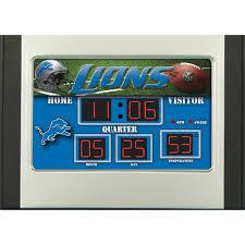 desk alarm clock team sports america nfl scoreboard desk clock walmart com