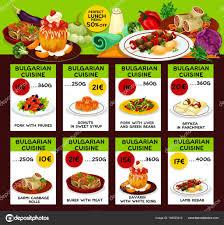 cuisine bulgare modèle de cuisine bulgare restaurant déjeuner menu image