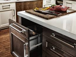 kitchen island trash wood countertops with trash holes by grothouse