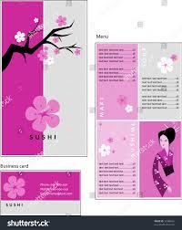 template designs menu business card coffee stock vector 12908662