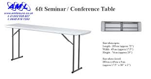 6 ft portable folding table 6ft solid topped seminar conference table