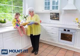 Kitchen Cabinet Brackets Amazon Com Mount It Mi Lcdcm Kitchen Under Cabinet Mount Tv