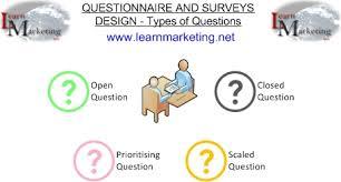 questionnaire design questionnaire design