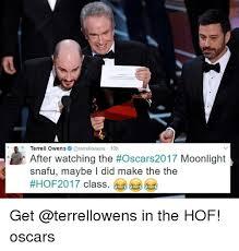 Terrell Owens Meme - terrell owens 10h after watching the oscars2017 moonlight snafu